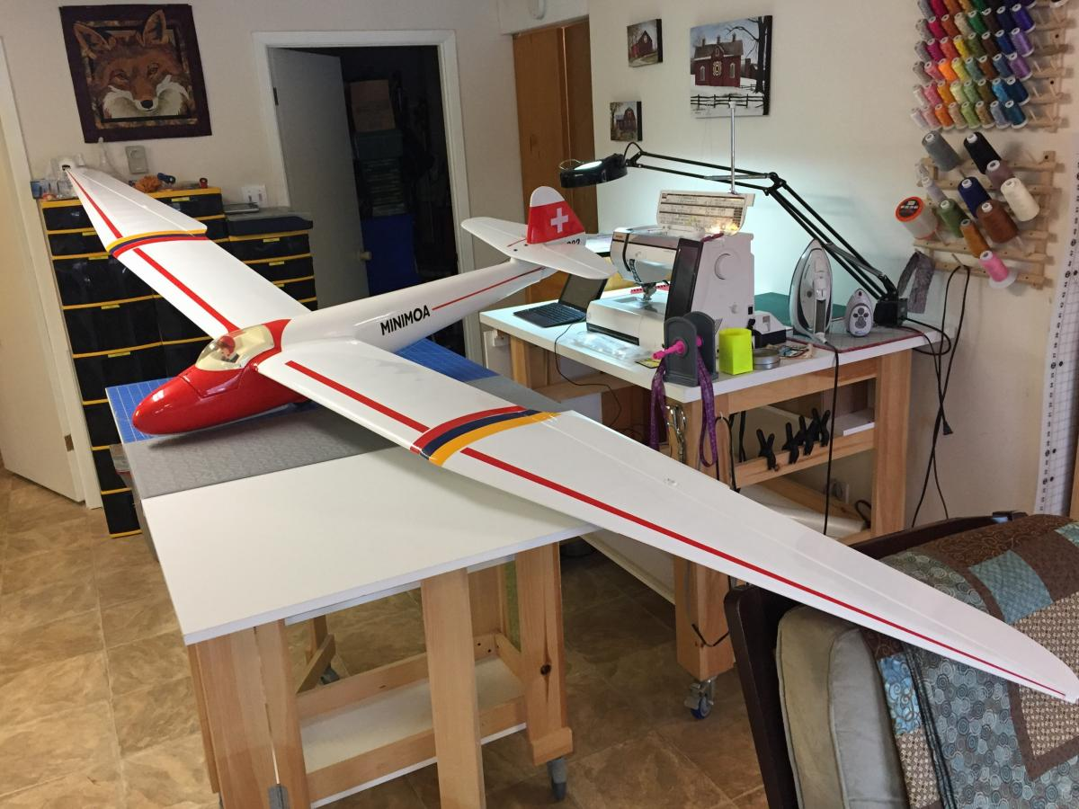 Getting a new-to-me sailplane ready for spring flying.